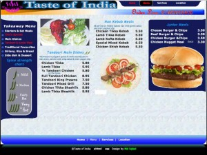 takeaway web design test of India